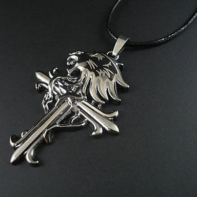 European Style Lion Cross Pendant Necklace
