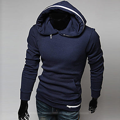 Men's hoodie plush side hat thick coat