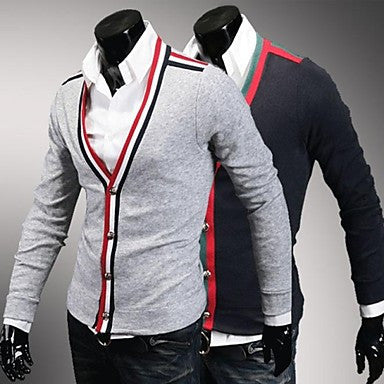 Men's Brand Slim Fit Cardigans Casual Sweater