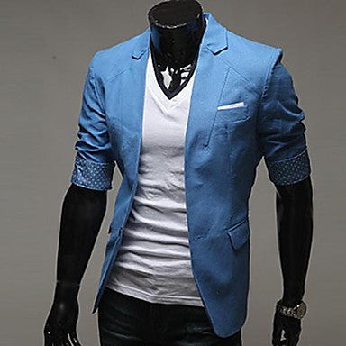 Men's Lapel Casual Simple Blazer Coat