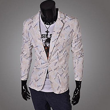 Men's New Fashion Slim Print Blazer