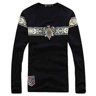 Men's Casual Long Sleeved T-Shirt Printing