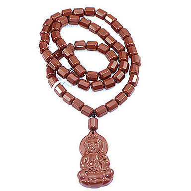 Health CaringClassic (Avalokitesvara Drop) Brown Agate Power Necklace (1 Pc)