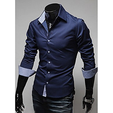 Men's Fashion Solid Color Shirt