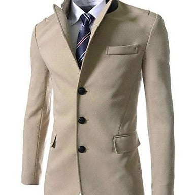 Men's Turndown Collar Patchwork Long Sleeve Suit