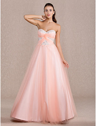 Ball Gown Sweetheart Floor-length Tulle Evening/Prom Dress