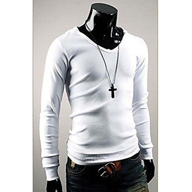 Men's Slim Hoodie English Long Sleeve T-Shirt