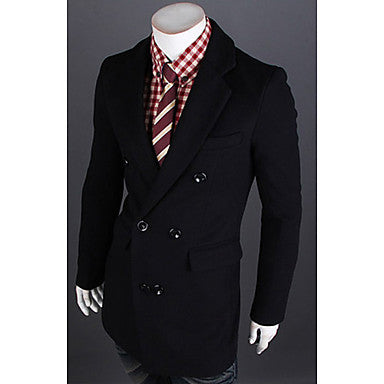 Men's Stylish Woolen Trench Coat