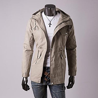 Men's Autumn Winter Casual Even The CAP Jacket Long Sections Outerwear