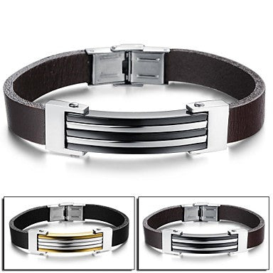 Fashion Personality Contracted Joker Hipster Fashion Leather Bracelet