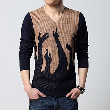 Men's Heart-Shaped Collar Pullover