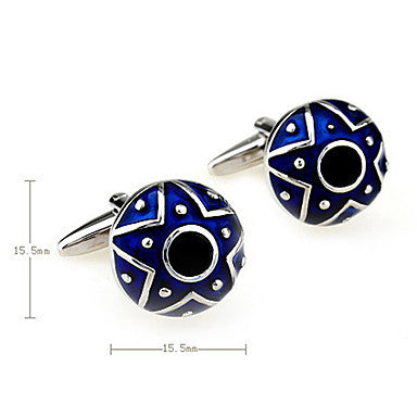 Star Pattern Men's Cufflinks