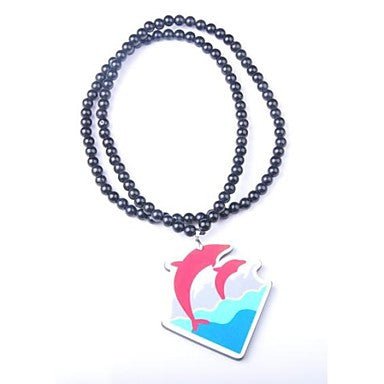 Dolphin Pattern Acrylic Necklace