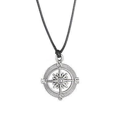 Fashion Stainless Steel Compass Pendant Necklace