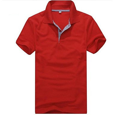 Men's Short Sleeve Casual Fashion wild Polo T-Shirt C