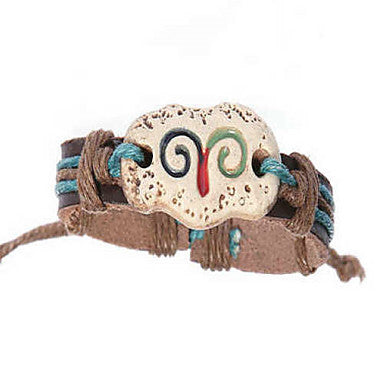 Fashion Leather Handmade Zodiac Bracelet-Aries (BSS26)