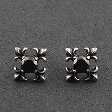 Men's Punk Square Stud Earrings
