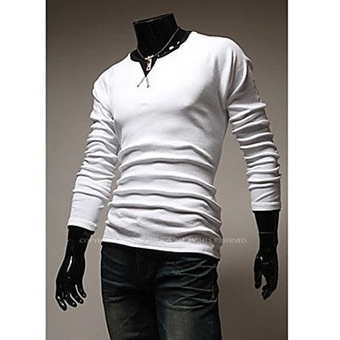Men's V Collar Sexy Slim Sleeve Shirt