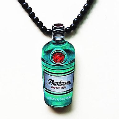 Bottle Pattern Wood Necklace