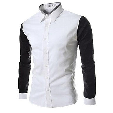 Men's New Summer Korean Fashion Splicing Sleeved Shirt