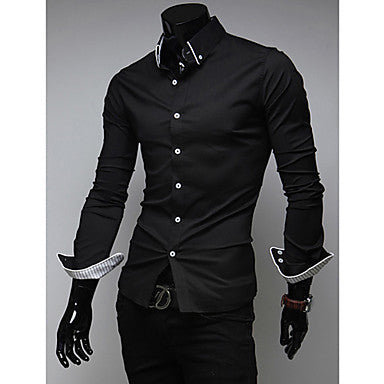 Men's Striped Decorated Slim Casual Shirt