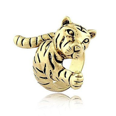 Fashion Alloy Tiger Shape Band Shield Rings Random Size