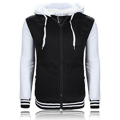 Men's Zip Hooded color G Monogram Embroidery Sweater Coat