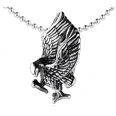 Mumar Classic Personalized Eagle Shaped Stainless Steel Jewelry Pendant Necklace with 60 cm Chain