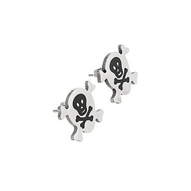 Fashion Bone Pattern Silver Alloy Stud Earring(1 Pair)