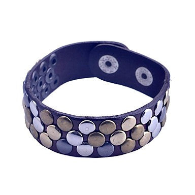 Lureme Fashion smooth surface Dot PU Bracelet