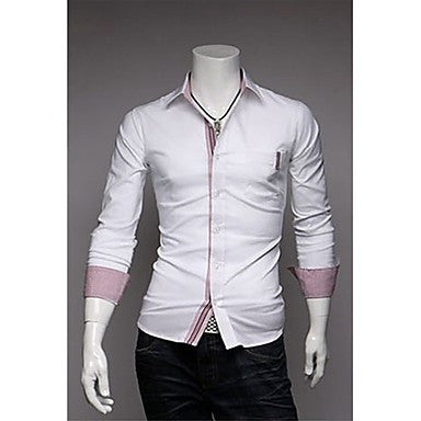 Men's Personality Placket Long Sleeve Shirts