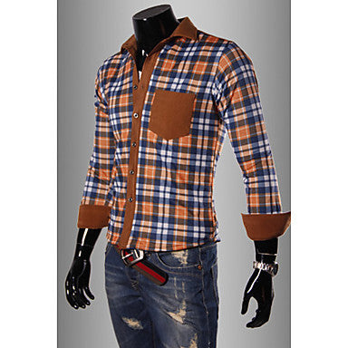 Men's Causal Check Thick Shirt