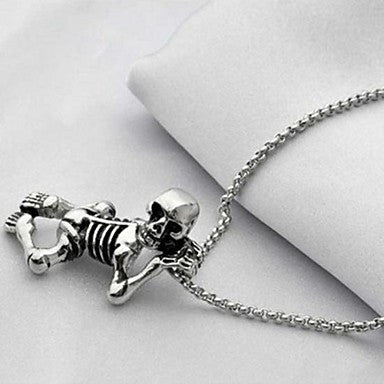Men¡¯s Fashion Personality Titanium Steel Cute Skull Pendant Necklaces