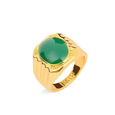 Vintage Men's 18K Gold Plated Ring 1pc