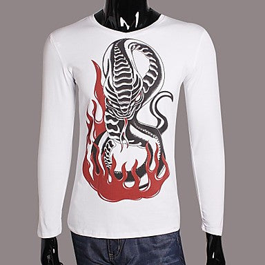 Men's Slim Casual Snake Long Sleeve T-shirts(More Colors)