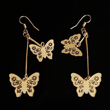 Fashion Hot-sell Golden Butterly Metal Stud Earrings