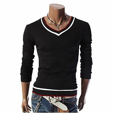 Men's Casual Cotton Long Sleeve T-Shirts