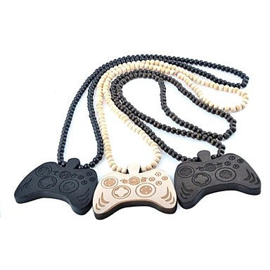 Joypad Pattern Wood Necklace