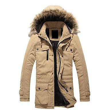 Men's Hooded Thickening Cotton-Padded Clothes Long Coat
