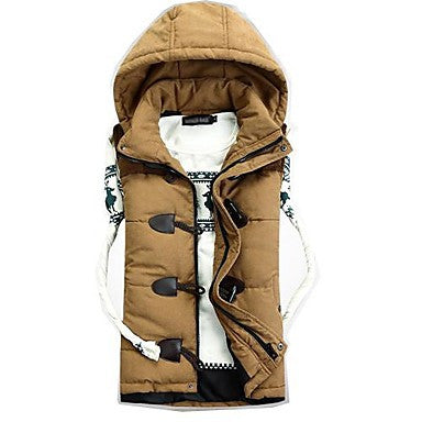 Men's Fashion Splicing Down Coat