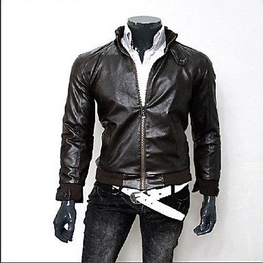 Trend Men New Fashion Locomotive Cuffs Hasp Leather clothing