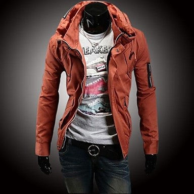 Men's Double Collar Slim Jacket