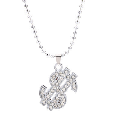 Dollar Symblo Alloy Necklace