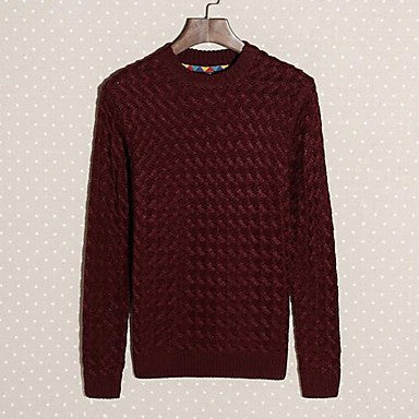 Men's Korean Interchange Vintage Thickened Sweater Weaving