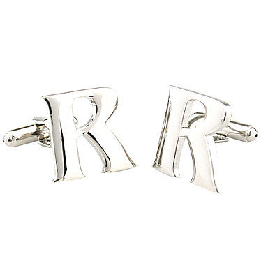 26 Letters R Style Cufflinks