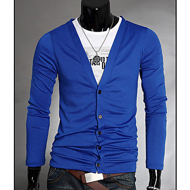 Men's V-neck Cardigan Sweater