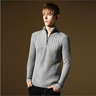 Men's New Arrived Fashion Cotton Britsh Style Warm Casual Knitwear