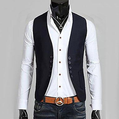 Men's Fashion Casual Slim Suits Vest Jacket