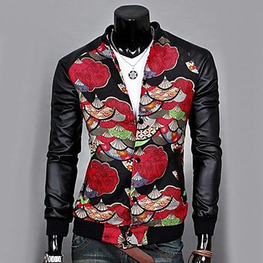 Men's Casual Fashion Stand Collar Jacket