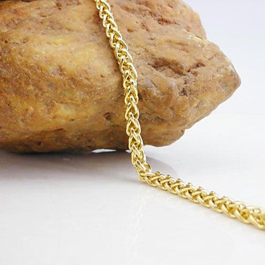 18K Golden Plated Twisted Chain Bracelet 20.5cm